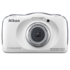 Nikon COOLPIX S33 White Waterproof Digital Camera