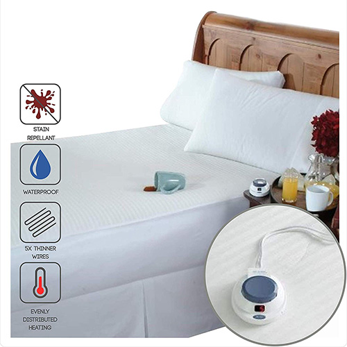 Perfect Fit SoftHeat Smart Heated Electric Waterproof and Stain Repellant Mattress Pad