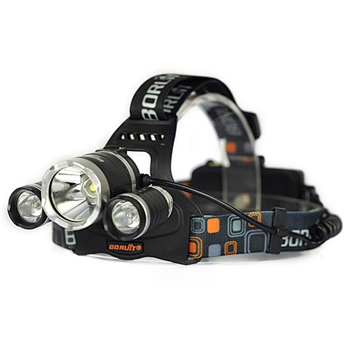 Excelling Popular 4 Modes 3x LED 5000 Lumen Headlamp