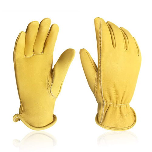 Intra-fit Leather Cowhide Waterproof Work Gloves