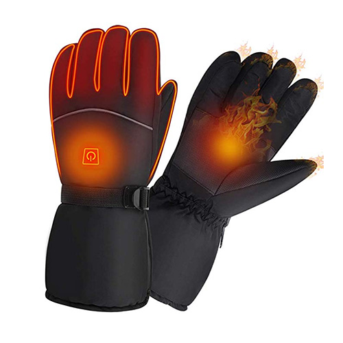 MZTDYTL Heated Winter Waterproof Gloves for Men and Women