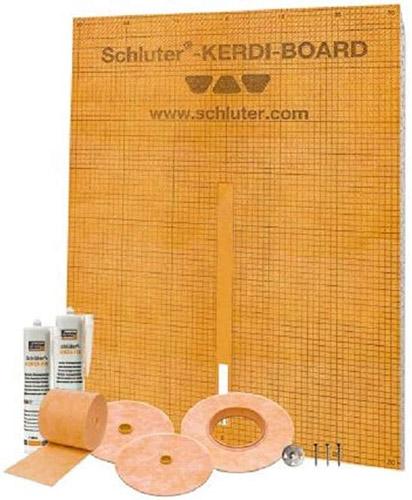 Schluter Systems Kerdi Board Waterproof Shower Kit