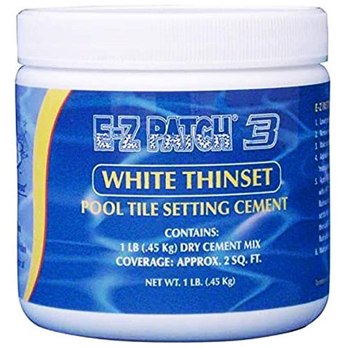 E-Z Patch 3 Pool Tile Thinset Cement for Repairs